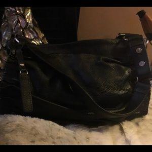 BCBG Maxazria black leather bag